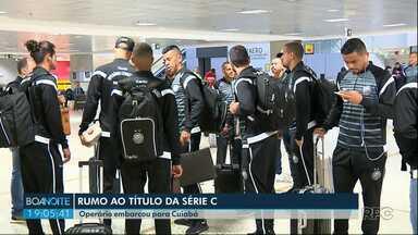 Operário embarcou nesta quinta-feira (20) cedo para Cuiabá - O Fantasma vai enfrentar o time do Mato Grosso na final da Série C do Campeonato Brasileiro.