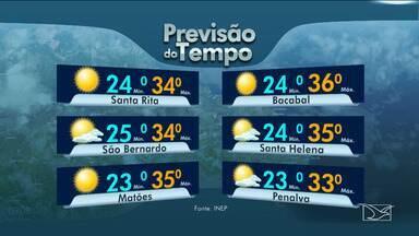 Veja as variações das temperaturas no Maranhão - Segundo a previsão do tempo, a sexta-feira (21) será de sol em todo o estado.