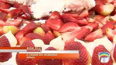 Morango movimenta economia em Atibaia - Festa das flores e morango termina neste fim de semana.