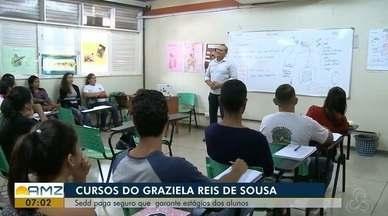 Seed paga seguro que garante estágios dos alunos do Centro de educação profissional, no AP - Estudantes de cursos profissionalizantes do Graziela Reis de Souza vão poder fazer estágio para concluírem os seus estudos