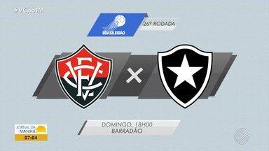 Vitória pega o Botafogo no domingo (23) pelo Brasileirão - Veja os destaques do rubro negro baiano.
