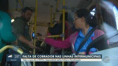 Passageiros reclamam sobre atraso e segurança em linhas de ônibus intermunicipais - Ônibus do transporte metropolitano estão circulando sem cobrador e em condições precárias.