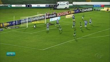 Fora de casa, CSA enfrenta o Guarani e perde por 1 a 0 - Com o resultado, Azulão caiu para a terceira colocação.