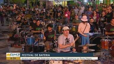 Encontro de bateristas é realizado em Manaus - Terceiro encontro reuniu mais de 120 bateristas.