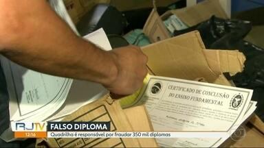 Polícia faz operação de combate a emissão de diplomas falsos - A quadrilha é responsável por 350 mil diplomas fraudados.