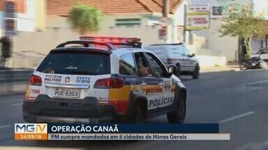 Gaeco de Patos de Minas realiza operação na cidade e região - Mandados também foram cumpridos em São Gonçalo do Abaeté, Patrocínio, Coromandel, Uberlândia e Buritizeiro. Denominada de 'Canaâ', ação foi contra o tráfico de drogas e porte ilegal de armas.