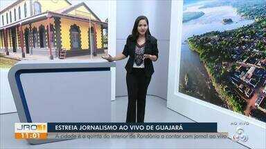 Estreia jornalismo ao vivo de Guajará-Mirim - A cidade é a quinta do interior de Rondônia a contar com jornal ao vivo.