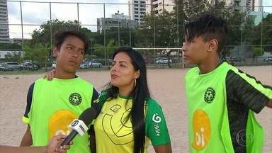 Filhos de Cléber Santana seguem os passos do pai no Recife - Haroldo e Cléber querem continuar legado no futebol deixado pelo pai