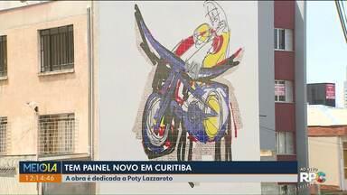 Curitiba tem mais um painel no centro - O artista Luiz Gustavo Vidal dedica a obra a Poty Lazzaroto.