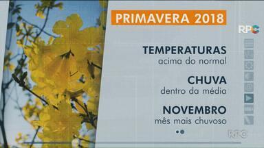 Veja como será a Primavera na região de Maringá - As temperaturas já aumentaram no começo da nova estação.