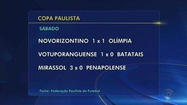 Confira os resultados dos jogos da Copa Paulista - As equipes que se classificaram para a segunda fase foram divididas em quatro grupos