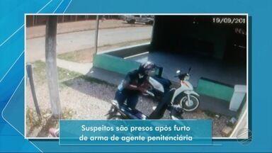 Suspeitos são presos após furto de arma de agente penitenciária - Suspeitos são presos após furto de arma de agente penitenciária