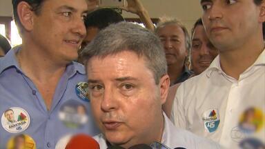 Antonio Anastasia (PSDB) fala sobre empregabilidade, no Sul e Sudoeste de Minas Gerais - Candidato foi na sede do Sindicato dos Produtores Rurais e discursou para uma plateia formada por apoiadores e aliados políticos.