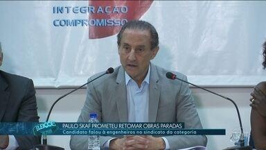 Paulo Skaf faz campanha na capital de São Paulo - Paulo Skaf, do MDB, ficou na capital para um compromisso com sindicalistas.