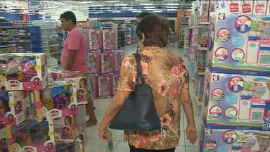 Pesquisa aponta crescimento na intenção de compra para o Dia das Crianças em São Luís - Federação do Comércio de Bens Serviços e Turismo do Maranhão diz que 62,7% dos ludovicenses pretendem comprar algum produto para presentear no Dia das Crianças. Número é 12,8% maior do que o mesmo período do ano passado.