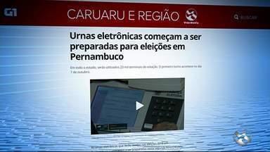 Urnas eletrônicas começam a ser preparadas para eleições em Pernambuco - Urnas eletrônicas começam a ser preparadas para eleições