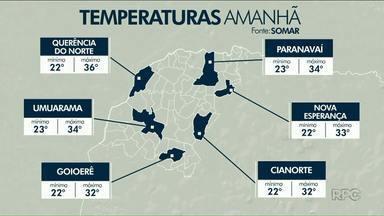 Calor deve aumentar nesta terça-feira na região Noroeste - A cidade mais quente deve ser Loanda, com temperatura máxima de 38 graus.