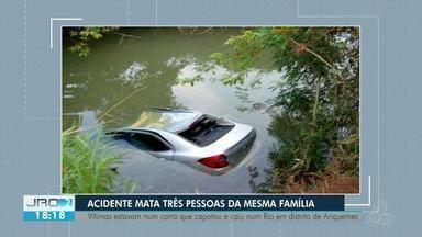 Acidente em Rodovia de Ariquemes deixa três pessoas mortas - O acidente aconteceu na tarde de ontem (23).