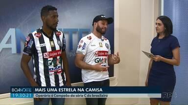 Bruno Batata e Peixoto comentam conquista de título inédito no Boa Noite Paraná - Os jogadores do Operário participaram ao vivo do jornal.