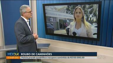 Polícia prende quadrilha e recupera caminhão em Curitiba - Valor do caminhão é de 150 mil reais.