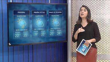 Meteorologia prevê sol e altas temperaturas no Sul do Rio - Há previsão de chuva sem grandes volumes.