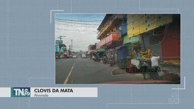 Tô na Rede: Morador reclama de ambulantes que ocupam calçadas no bairro Alvorada - A SEMPAB diz que vai enviar equipe ao local.