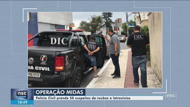 Operação da Polícia Civil realiza prisões em Santa Catarina contra roubos e latrocínios - Operação da Polícia Civil realiza prisões em Santa Catarina contra roubos e latrocínios
