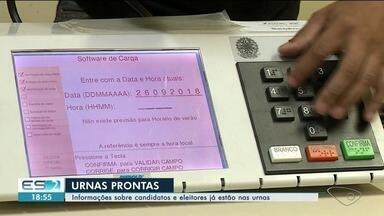 Preparação de urnas que serão usadas em Cachoeiro e Atílio Vivácqua é concluída, no ES - Informações sobre candidatos e eleitores já estão nas urnas.