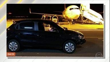 Estudante é preso após invadir pista do aeroporto de Presidente Prudente (SP) - Segundo a polícia, ele tinha bebido.