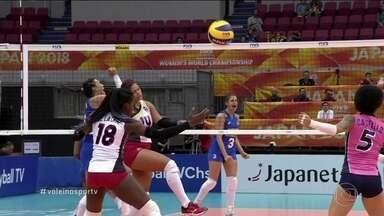 Brasil atropela a República Dominicana no Mundial de vôlei feminino - Brasil atropela a República Dominicana no Mundial de vôlei feminino