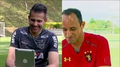 Em meio a brincadeiras, Victor e Magrão conversam via internet e projetam futuro na tabela - Em meio a brincadeiras, Victor e Magrão conversam via internet e projetam futuro na tabela