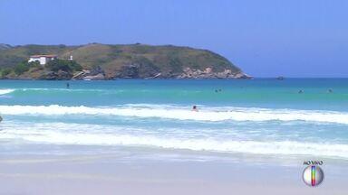 Cabo Frio, RJ, registra muito calor nesta quarta-feira - Assista a seguir.