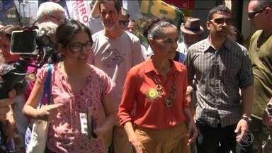 Candidato da Rede, Marina Silva, faz campanha no Rio de Janeiro - Jornal Nacional mostra como foram as atividades de campanha de candidatos à presidência nesta quarta-feira (3).