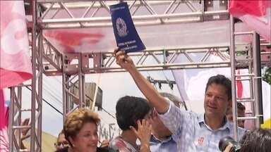 Candidato do PT, Fernando Haddad, faz campanha em Minas Gerais - Jornal Nacional mostra como foram as atividades de campanha de candidatos à presidência nesta sexta-feira (5).