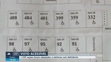 Mais de mil seções foram adaptadas para eleitores com deficiência em SC - Mais de mil seções foram adaptadas para eleitores com deficiência em SC