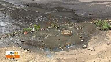 Com proximidade das chuvas, população se preocupa com situação das boca de lobo em Goiânia - Em muitas delas, há mato crescendo e grande quantidade de lixo.
