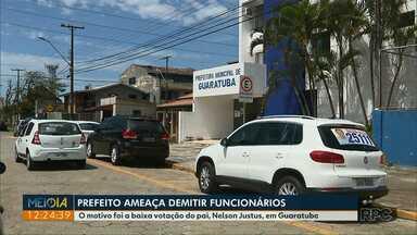 Prefeito ameaça demitir funcionários em Guaratuba - O motivo foi a baixa votação do pai, Nelson Justus, em Guaratuba.