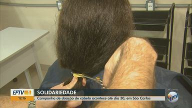 Campanha recebe doação de cabelos em São Carlos para confecção de perucas até dia 30 - Perucas são doadas para pacientes com câncer.