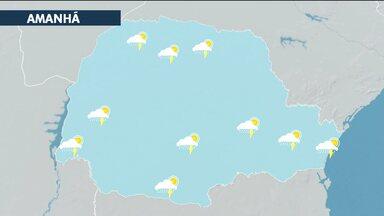 Previsão para quarta-feira (10) é de mais chuva forte no Paraná - Em Curitiba, a mínima é de 14 e a máxima de 25 graus.
