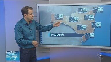 Veja como ficará o tempo em todas as regiões de SC nesta quarta-feira (10) - Veja como ficará o tempo em todas as regiões de SC nesta quarta-feira (10)