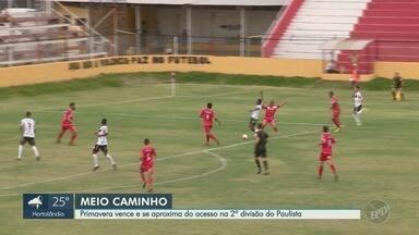 Primavera enfrenta Inter de Bebedouro e vence em casa pela série A3 - Placar da partida terminou em 2 a 0 para o time de Indaiatuba.