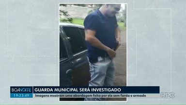 Guarda Municipal de Londrina deve ser investigado - Vídeo gravado mostra que, durante uma abordagem, o Guarda Municipal estava sem farda e armado.
