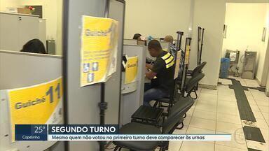 Eleitores mineiros voltam às urnas em menos de três semanas - Quem não conseguiu votar no primeiro turno pode participar do segundo.