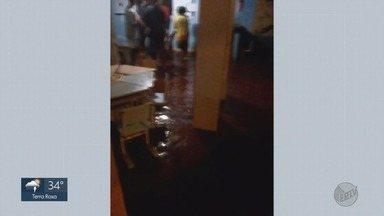 Crianças ficam sem aula após creche ser inundada em Ribeirão Preto, SP - Moradores dizem que escola filantrópica no bairro Parque Ribeirão sempre alaga quando chove forte.