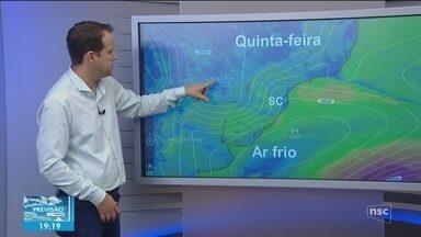Veja como ficará o tempo em todas as regiões de SC nesta quinta-feira (11) - Veja como ficará o tempo em todas as regiões de SC nesta quinta-feira (11)