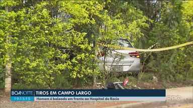 Homem é baleado em frente ao Hospital do Rocio em Campo Largo - Ele tinha acabado de deixar parentes no hospital, quando foi atingido por um tiro no rosto.