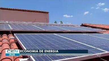 Placas solares são alternativa para economia de energia elétrica - Veja mais notícias em g1.com.br/ce