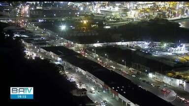 Sistema ferry boat tem movimento intenso nesta quarta-feira (10) - Segundo a Internacional Travessias, responsável pelo serviço, o fluxo já é referente ao feriado da próxima sexta-feira (12).