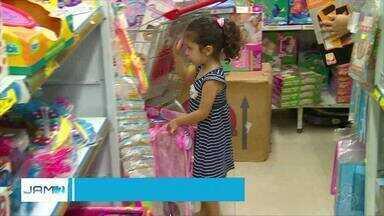 Dia das crianças aquece comércio em Manaus - Data é celebrada nesta sexta-feira (12).