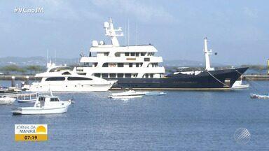 Lance inicial de R$ 9,5 milhões: iate de luxo vai a leilão em Salvador - Por enquanto, a embarcação não pode navegar, porque está apreendida pela Receita Federal.